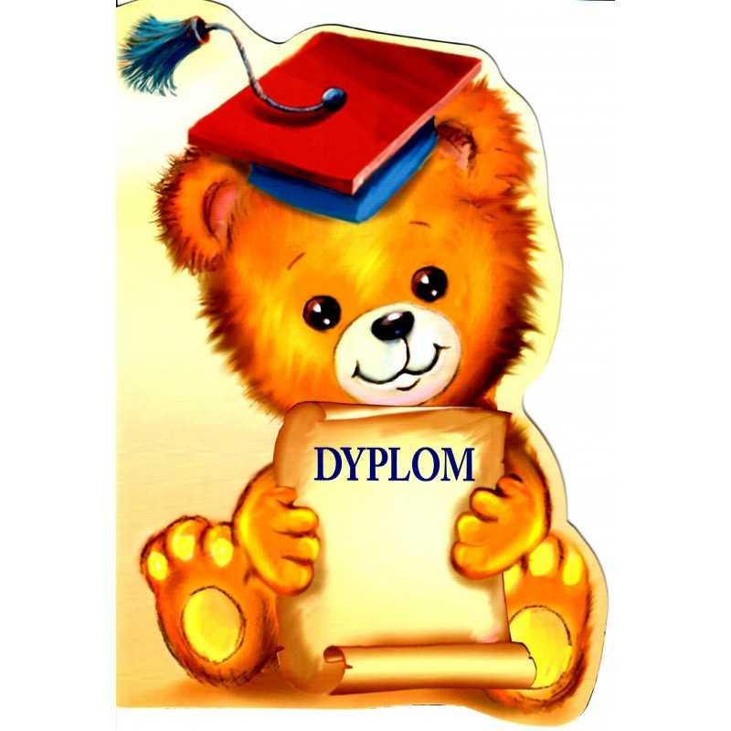 Dyplom ukończenia przedszkola - dwustronny -wykrawany, K-124