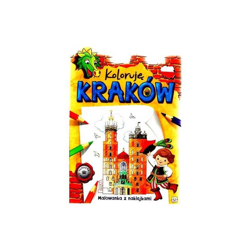 Koloruję Kraków - Malowanka z naklejkami