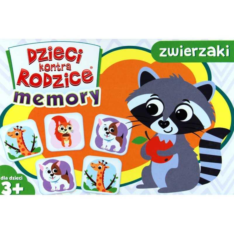 Dzieci kontra rodzice - Memory zwierzaki -gra
